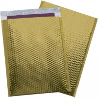 Glamour Bubble Mailers, Gold, 13 x 17 1/2""
