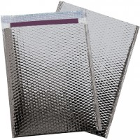 Glamour Bubble Mailers, Silver, 13 x 17 1/2""