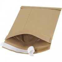 "Padded Mailers, #1, 7 1/4 x 12"", Kraft, Self-Seal"