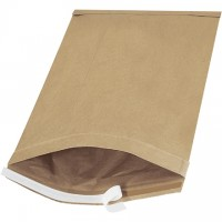 "Padded Mailers, #6, 12 1/2 x 19"", Kraft, Self-Seal"