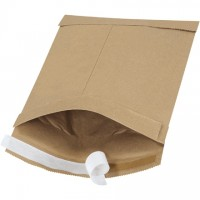 "Padded Mailers, #0, 6 x 10"", Kraft, Self-Seal"