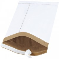 "Padded Mailers, #3, 8 1/2 x 14 1/2"", White, Self-Seal"