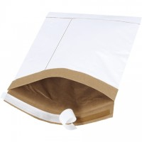 """Padded Mailers, #1, 7 1/4 x 12"""", White, Self-Seal"""