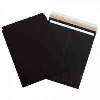 "Flat Mailers, Self-Seal, 17 x 21"", Black"