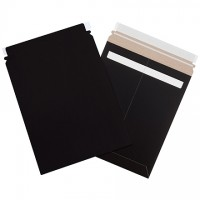"Flat Mailers, Self-Seal, 9 3/4 x 12 1/4"", Black"