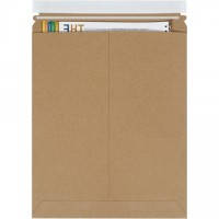 "Flat Mailers, Self-Seal, 11 x 13 1/2"", Kraft"