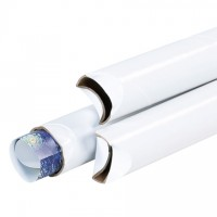 "Mailing Tubes, Snap-Seal, Round, White, 2 x 24"", .060"" thick"