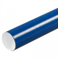 "Mailing Tubes with Caps, Round, Blue, 3 x 12"", .070"" thick"