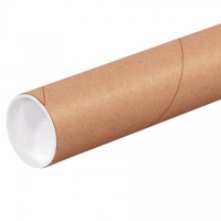 "Mailing Tubes with Caps, Round, Kraft, 2 1/2 x 24"", .070"" thick"