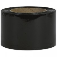 "Black Bundling Stretch Film, 80 Gauge, 3"" x 1000'"