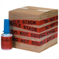 """DO NOT DOUBLE STACK"" Goodwrappers® Identi-Wrap, 80 Gauge, 5"" x 500'"