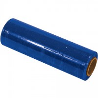 "Blue Cast Hand Stretch Film, 80 Gauge, 18"" x 1500'"