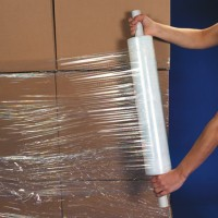 "Extended Core Cast Stretch Film, 90 Gauge, 20"" x 1000'"