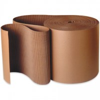 Corrugated Wrap Roll, 4 x 250', A Flute