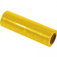 "Yellow Cast Hand Stretch Film, 80 Gauge, 18"" x 1500'"
