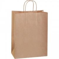 Kraft Paper Shopping Bags, Debbie - 10 x 5 x 13""