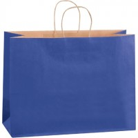 Parade Blue Tinted Paper Shopping Bags, Vogue - 16 x 6 x 12""
