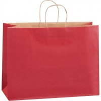 Scarlet Tinted Paper Shopping Bags, Vogue - 16 x 6 x 12""