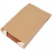 "Kraft Paper Merchandise Bags, #16, Gusseted - 12 x 3 x 18"""