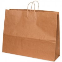 Kraft Paper Shopping Bags, Magnum - 24 x 7 1/4 x 18 3/4""