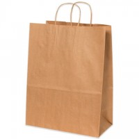 Kraft Paper Shopping Bags, Mart - 13 x 7 x 17""