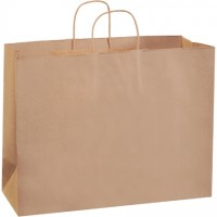 Kraft Paper Shopping Bags, Vogue - 16 x 6 x 12""