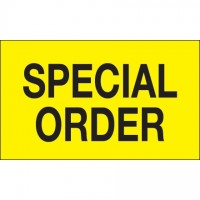 "Fluorescent Yellow ""Special Order"" Production Labels, 3 x 5"""