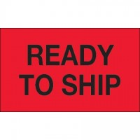 "Fluorescent Red ""Ready To Ship"" Production Labels, 3 x 5"""