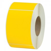 """Yellow Thermal Transfer Labels, 4 x 6"""""""