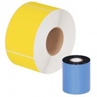 "Black Datamax Thermal Transfer Ribbons, Wax/Resin, 3.00"" x 1181'"
