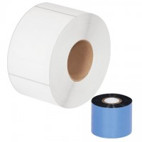 "Black Datamax Thermal Transfer Ribbons, Wax, 2.01"" x 1181'"