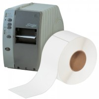 """White Thermal Transfer Labels, 4 x 12"""""""