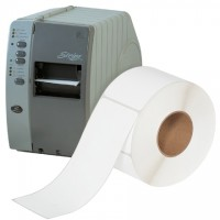 """White Thermal Transfer Labels, 4 x 10"""""""