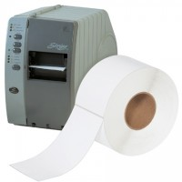 """White Thermal Transfer Labels, 4 x 8"""""""