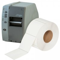"""White Thermal Transfer Labels, 4 x 4"""""""