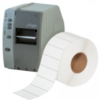 White Thermal Transfer Labels, 4 x 1 1/2""