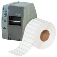 White Thermal Transfer Labels, 4 x 1""
