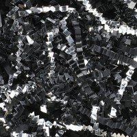 Crinkle Paper, Black & Silver, Blends