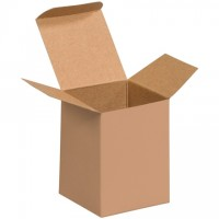 "Chipboard Boxes, Folding Cartons, Reverse Tuck, 3 x 3 x 4"", Kraft"