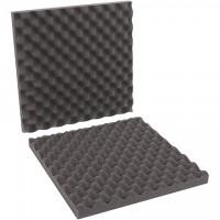 """Charcoal Convoluted Foam Sets - 16 x 16 x 2"""" , 2 Sheets Per Set"""