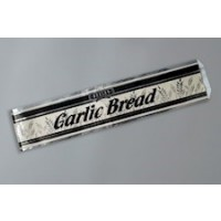 "Foil Printed Garlic Bread Bags, 4 1/2 x 2 1/4 x 20"""