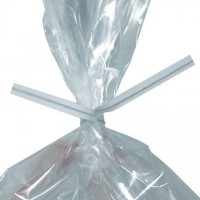 Paper Twist Ties, White, Pre-Cut, 4 x 5/32""