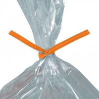 Paper Twist Ties, Orange, Pre-Cut, 8 x 5/32""