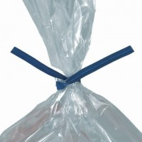 Paper Twist Ties, Blue, Pre-Cut, 8 x 5/32""