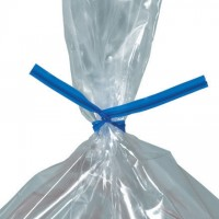 Plastic Twist Ties, Blue, Pre-Cut, 9 x 5/32""