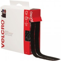 "VELCRO® Hook and Loop, Combo Pack, Strips, 3/4"" x 15', Black"