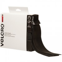 "VELCRO® Hook and Loop, Combo Pack, Strips, 2"" x 15', Black"