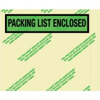 "Recycled ""Packing List Enclosed"" Envelopes, 4 1/2 x 5 1/2"""