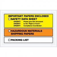 "SDS ""Important Papers Enclosed"" Envelopes, Yellow/Orange, 6 1/2 x 10"""