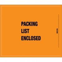 "Military ""Packing List Enclosed"" Envelopes, Orange, 8 1/2 x 10"""